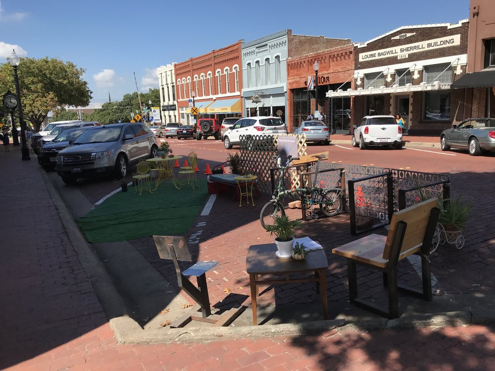 Pop Up Parklet in Plano (Courtesty of John Simmerman)