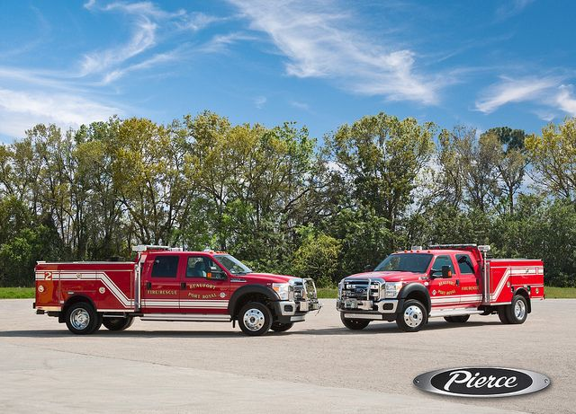 Acknowledging that only 1.1% of its emergency calls were fire related, the City of Beaufort, SC, saved $500,000 by replacing two pumpers with these smaller all-purpose vehicles.[168]   (Photo credit: City of Beaufort/Town of Port Royal Fire Department and Spartan Fire & Emergency Apparatus Inc.)