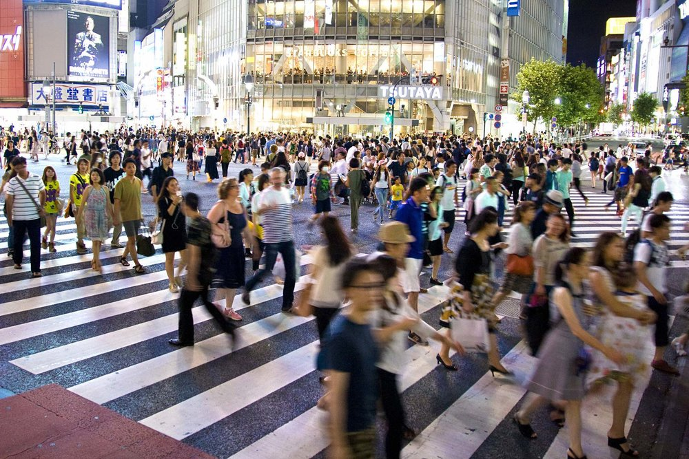 The famous scramble crossing in Shibuya, Tokyo, Japan.  (Source: Dimitry B. via    Flickr   )