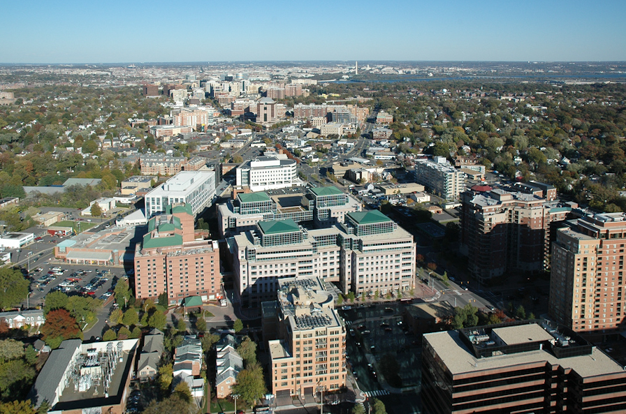 High-density transit-oriented development in Arlington, Virginia. (Wikimedia Commons)