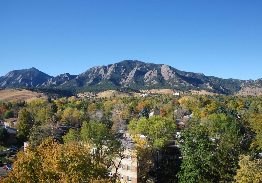 Boulder neighborhood at the foot of the Flatirons (Wikimedia Commons)