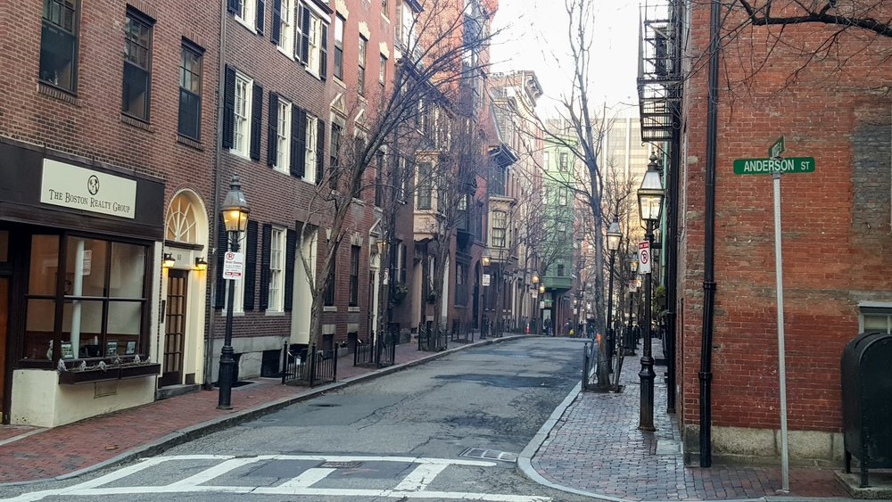 Walking around Beacon Hill in Boston.