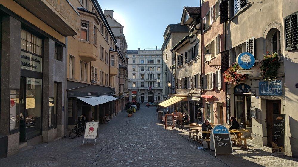 Walking around inside that gray blob we call Zurich.