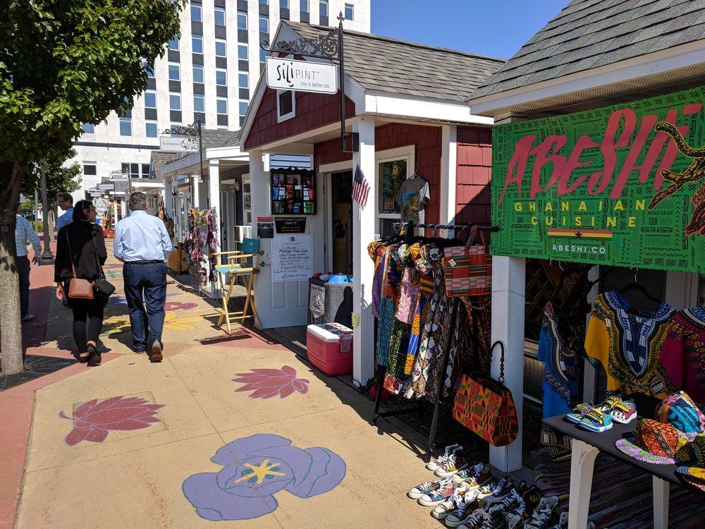 Pop-up shops in 2018's Strongest Town Contest winner, Muskegon, Michigan.