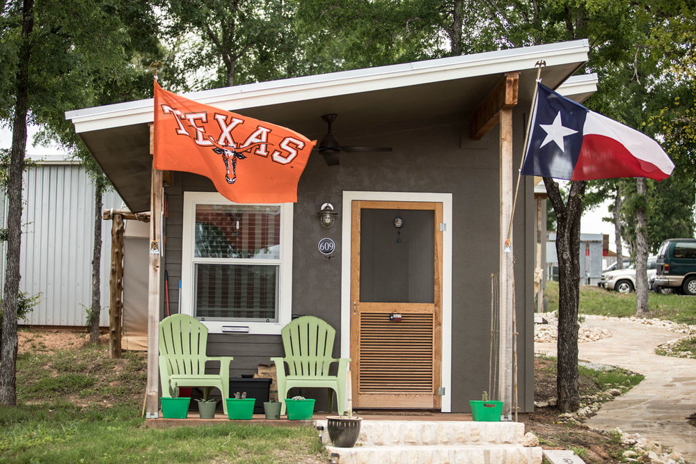 Community First! Village outside of Austin, Texas, is a tiny home and RV neighborhood which provides sustainable, affordable housing and supportive services for the chronically disabled and homeless. Photo courtesy Mobile Loaves & Fishes.