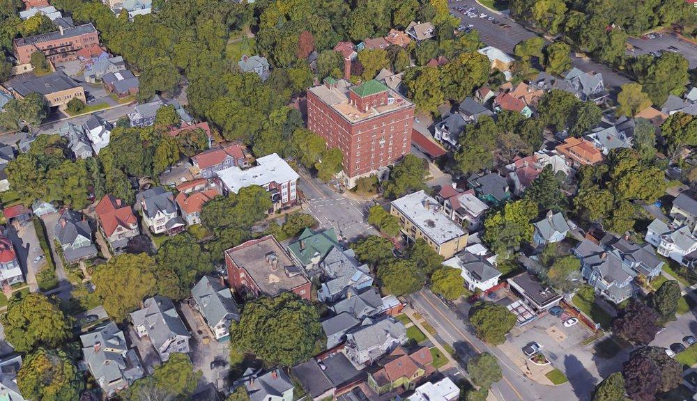 Park Avenue neighborhood in Rochester, NY