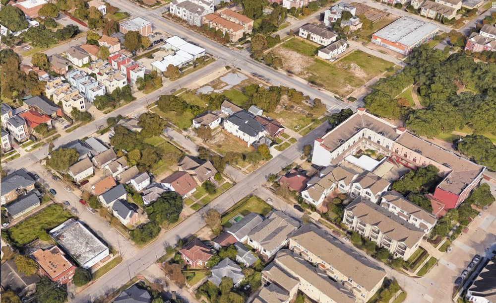 A developing neighborhood in Houston, TX