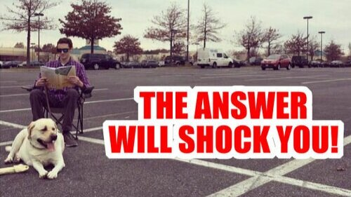 parking lot answer shock you