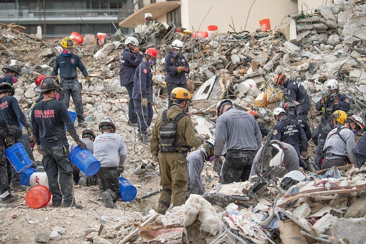 IDF Aid Mission to Surfside condominium building collapse%2C June 2021. III