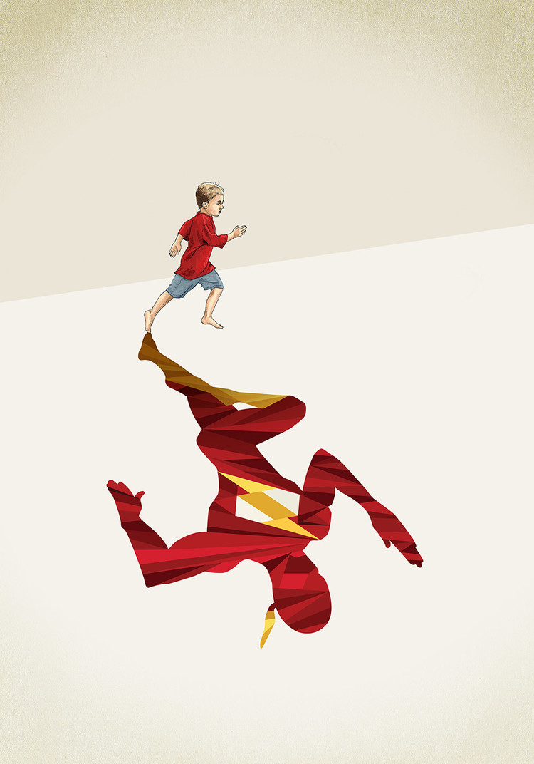 Super Shadows illustration by Jason Ratliff #artpeople