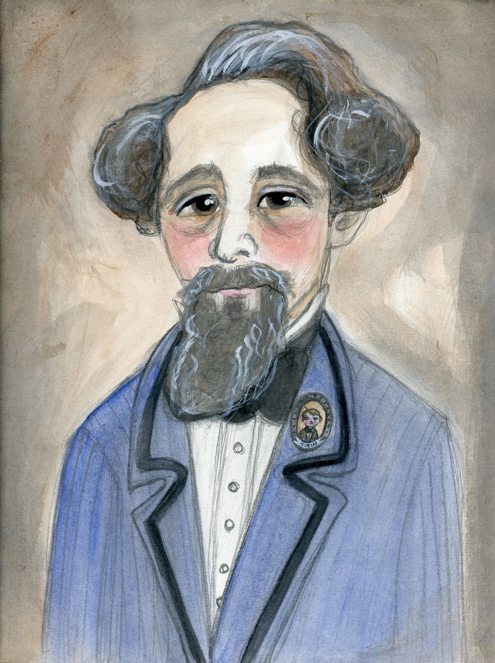 Charles Dickens in Blue