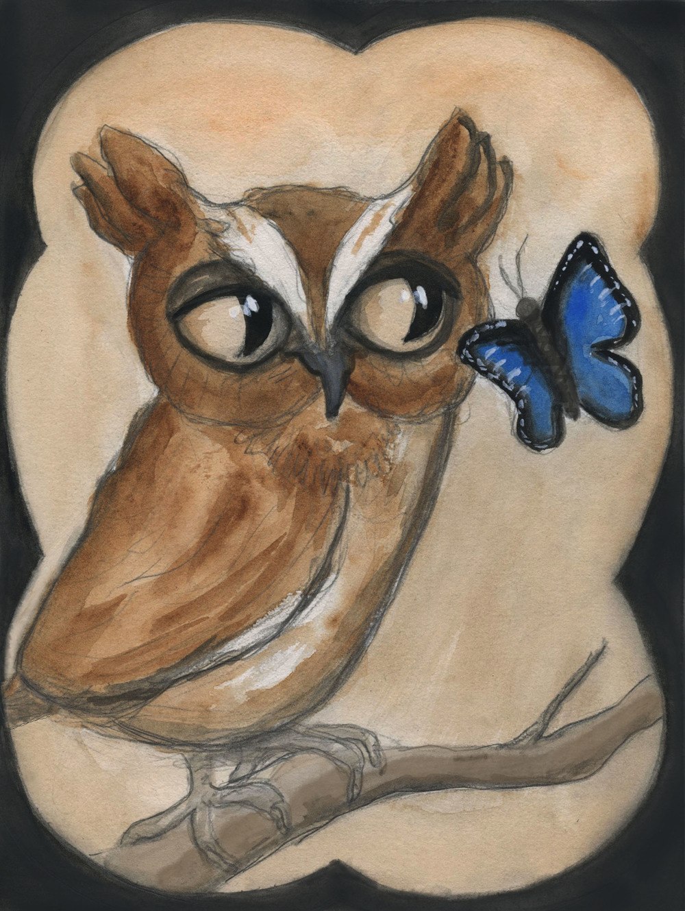 The Owl and the Butterfly Blue