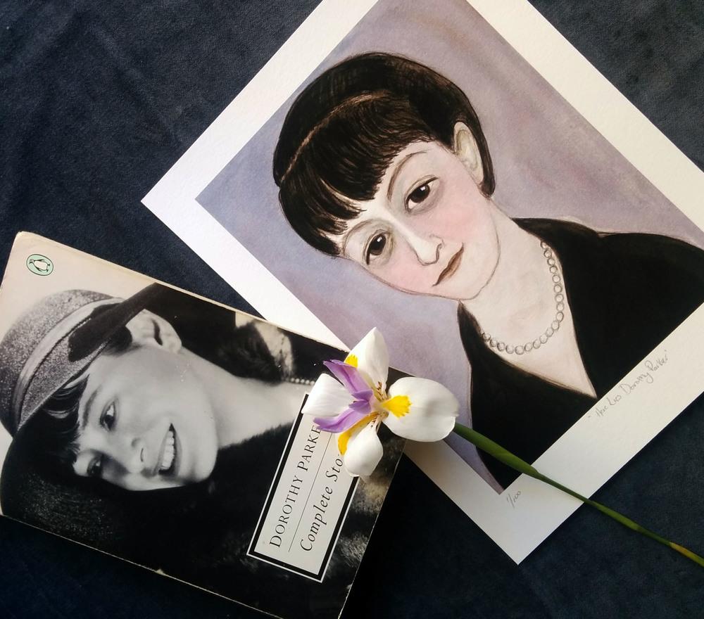 Dorothy Parker Literary Portrait Art Print