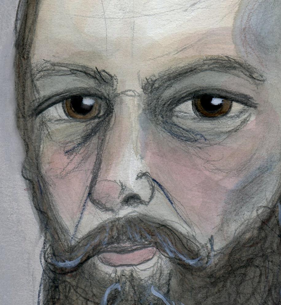 Fyodor Dostoyevsky Closeup