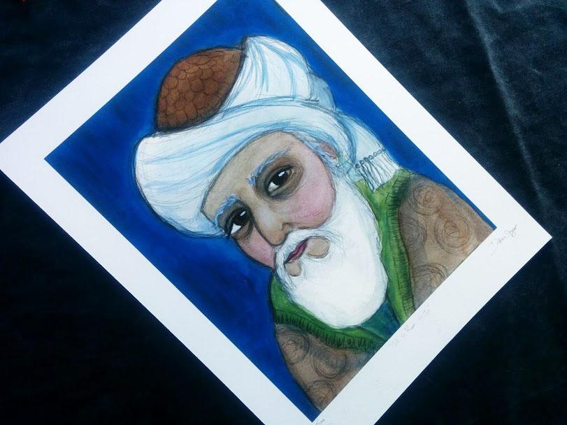 Rumi art print
