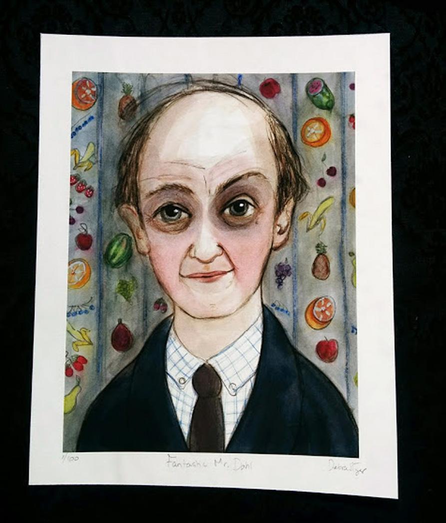 Roald Dahl Portrait Unframed