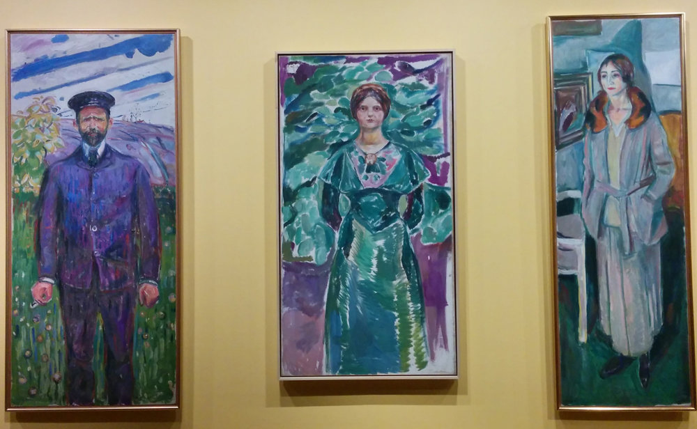 Some of my favorite portraits from the Edvard Munch Museum in Oslo, Norway! Aren't these amazing?