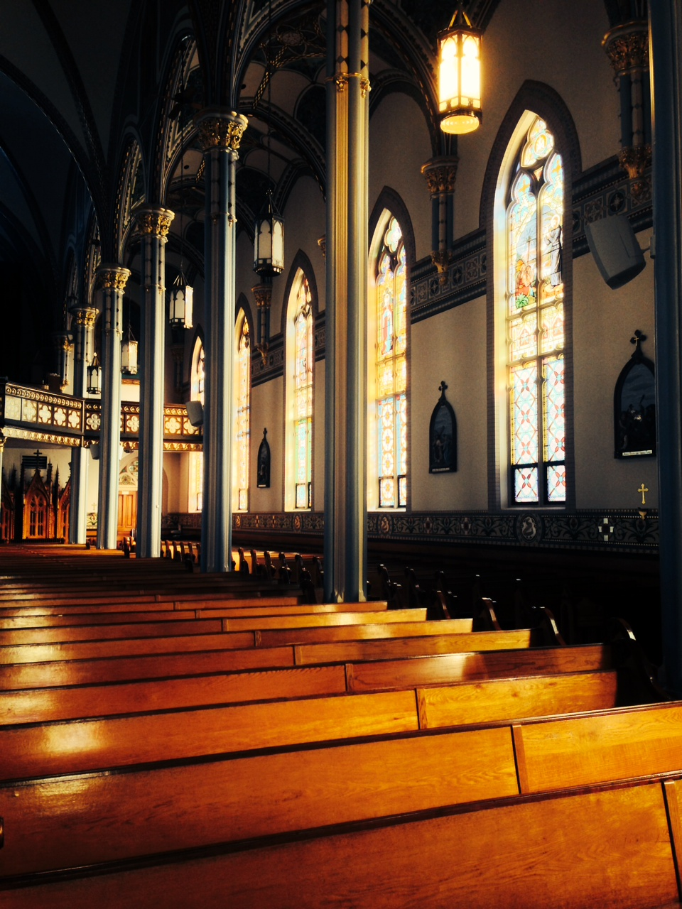"St. Francis Xavier Basilica in Dyersville, Iowa, busy redefining ""too legit to quit."""