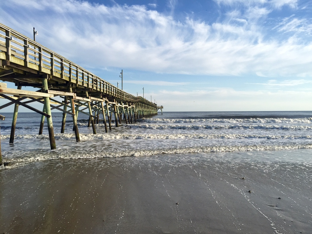 The pier at Oak Island, NC.
