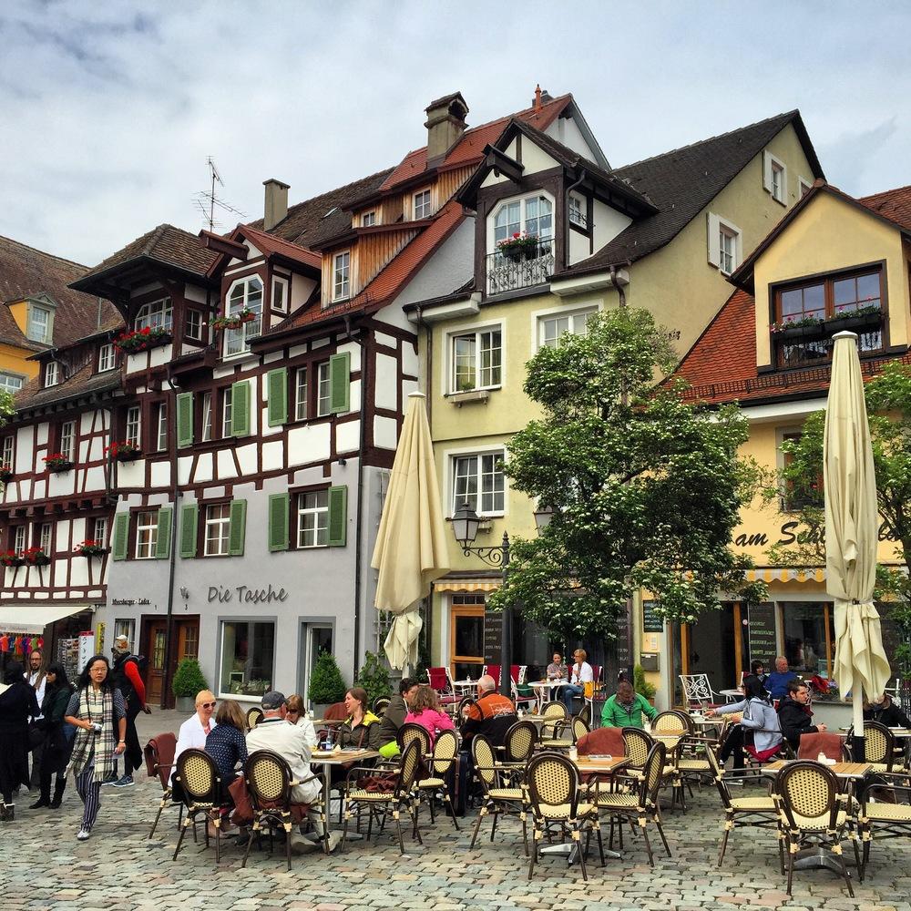 On the terrace in Meersburg