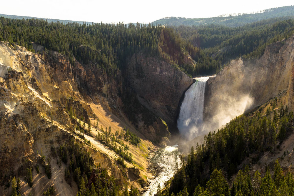 Lower Falls in Yellowstone National Park. Photo by Jacqueline Kehoe