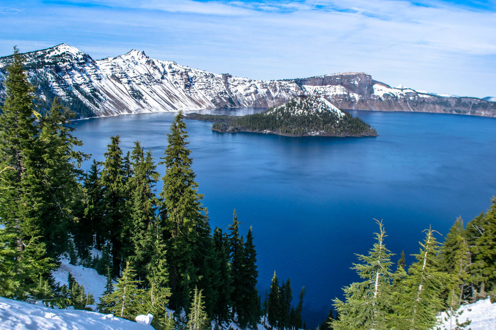 Crater Lake on the first heavy snow in October, 2016. Photo by Jacqueline Kehoe