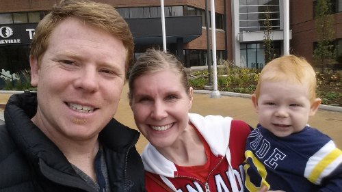 My wife, son and myself just after voting in the advanced polls!