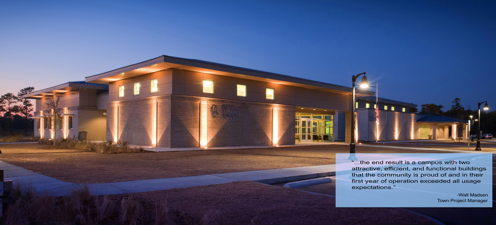 St James Town Hall and Community Center  4140 Southport-Supply Road St. James, NC  Completed as Project Architect for John Sawyer Architects