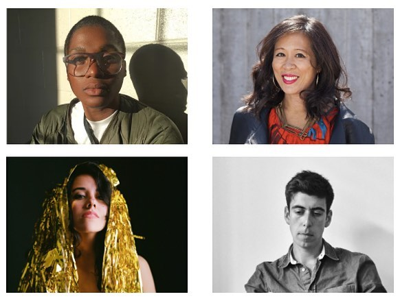 """So excited to be partnering with @bam_brooklyn for """"Looking Out, In, and Back: Artists on Citizenship"""" this June! Featuring conversation and performance from (clockwise from top left) @okaynickay, @iamlisako, @philipmontgomery, and @yaratravieso! Tix on sale now at link in bio!! . . . . #bellwetherbklyn #artistsoncitizenship #artists #citizenartist #nickay #lisako #philipmontgomery #yaratravieso #conversation #BAM #tixnowavailable"""