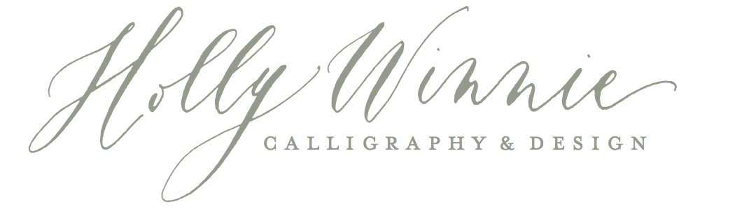 holly winnie calligraphy