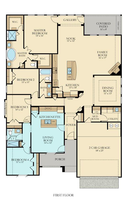 The Lennar Hilltop II Floorplan