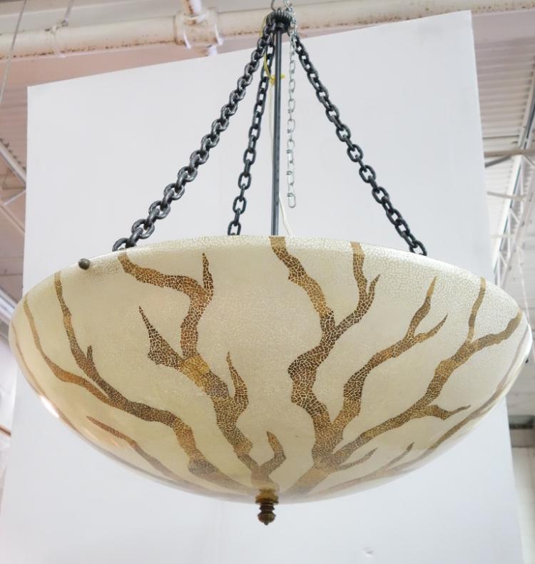 & vintage maitland smith fiberglass chandelier u2014 Eagle Eye Antiques