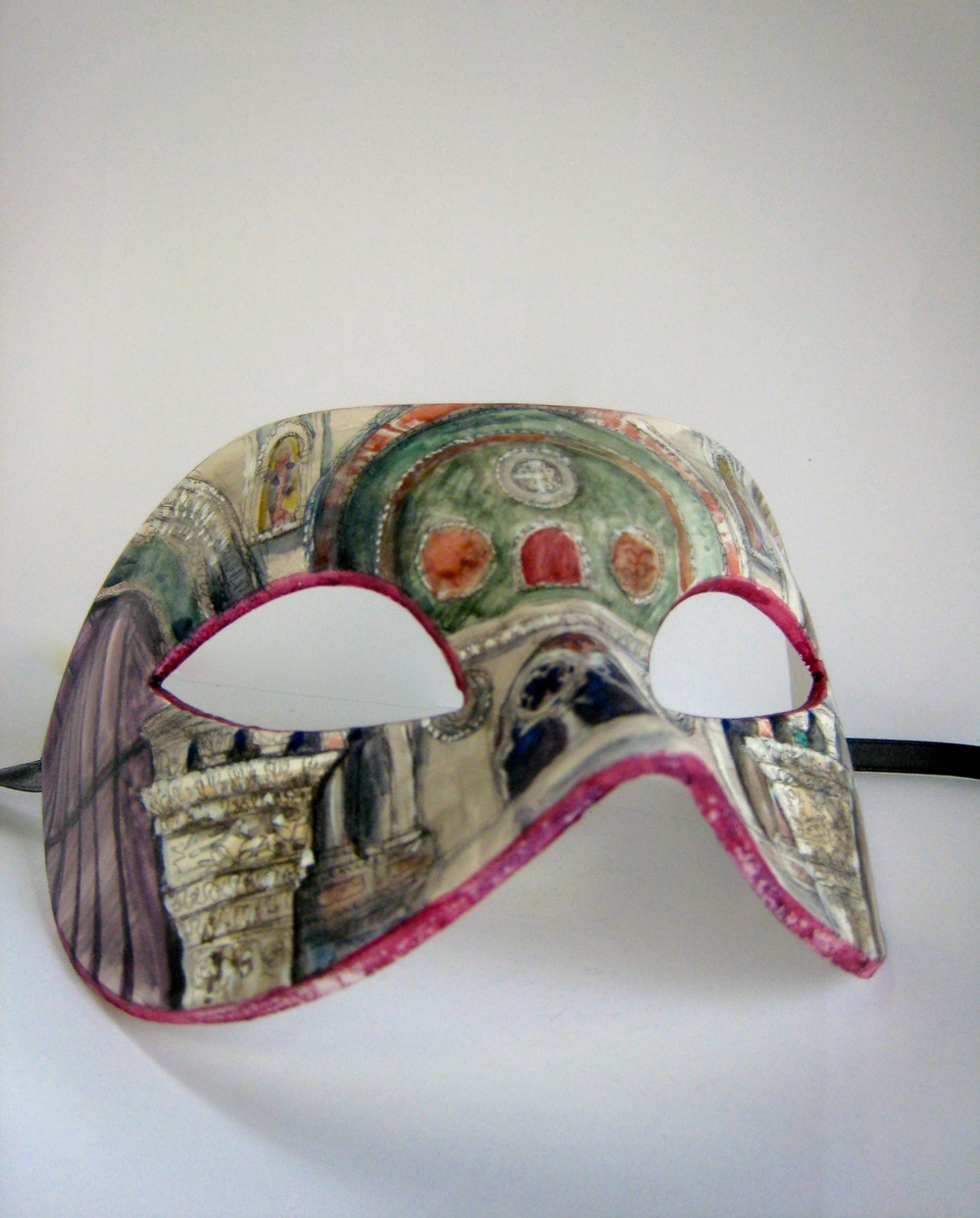 Megan Kelchner,  San Marco , painted mask, 2014
