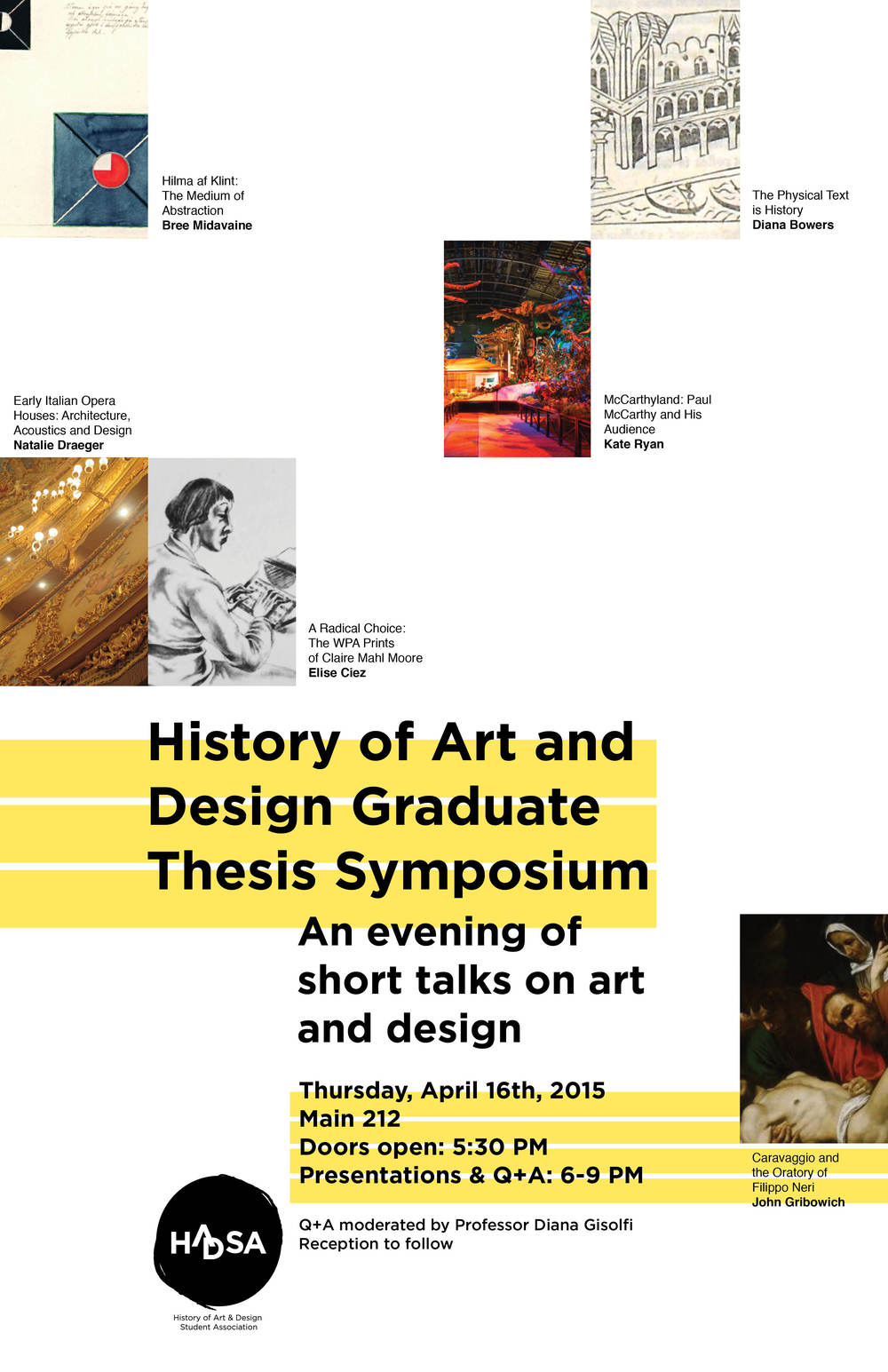 HADSA Graduate Student Symposium Poster