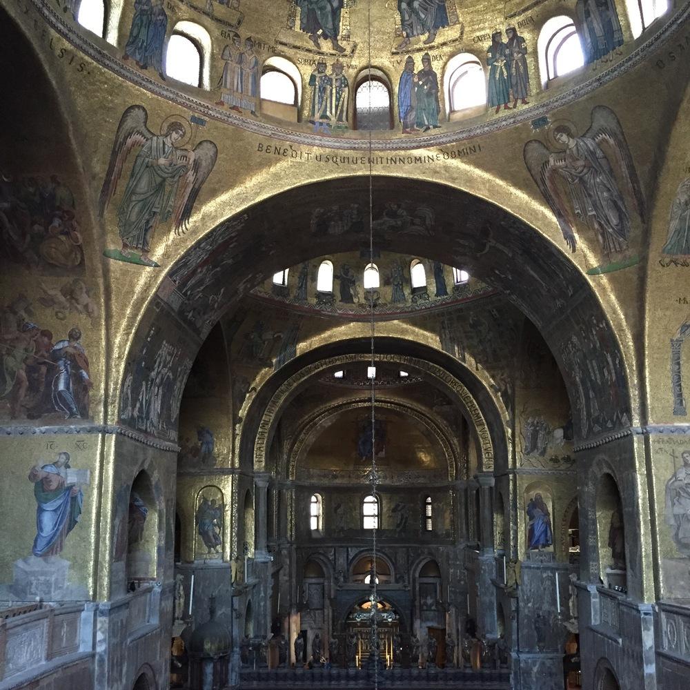Inside Basilica di San Marco.