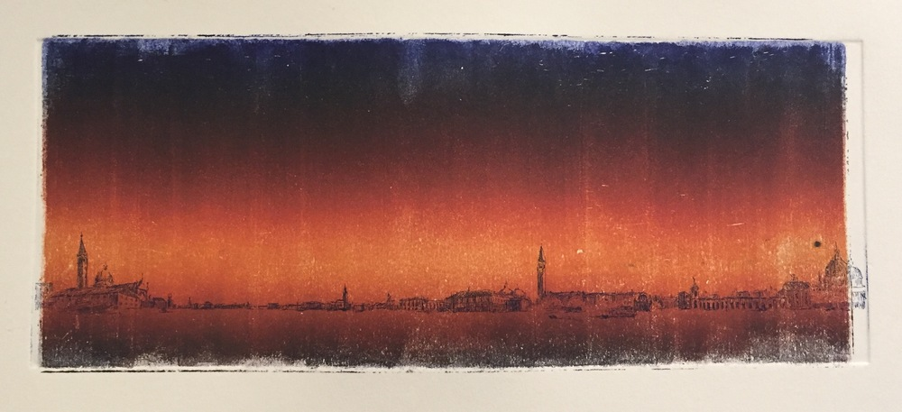 YIYI WANG Sunset etching, monoprint