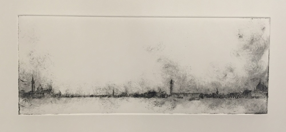 YIYI WANG   Venice in B&W 2   etching