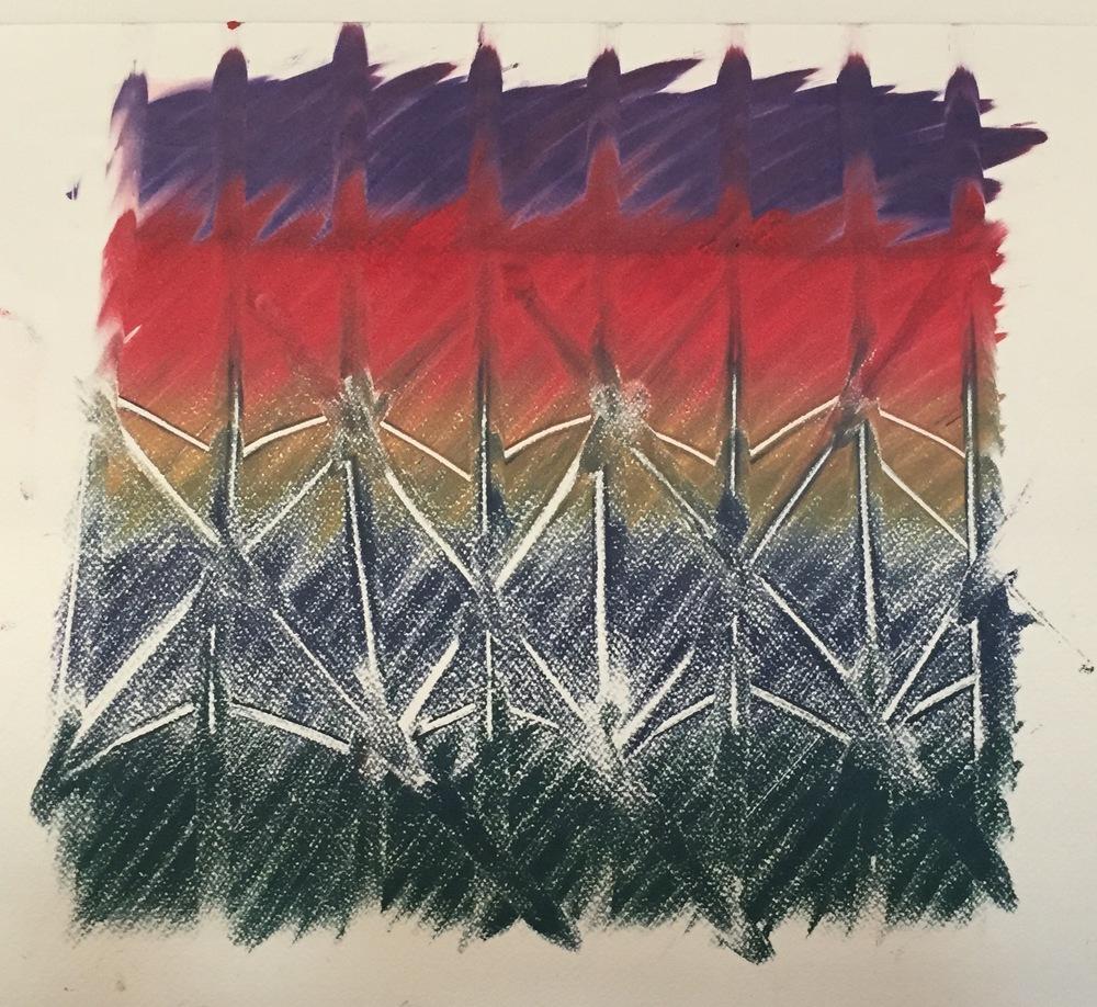 NINA SWISTEL   Ink Textile #3   monoprint