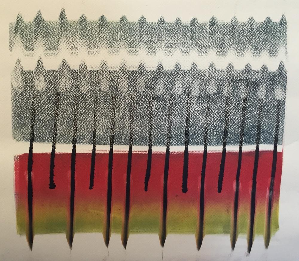 NINA SWISTEL Ink Textile #1 monoprint