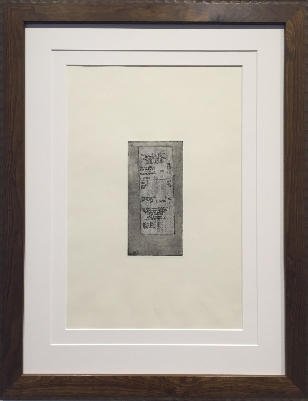 BRIANNE MCKAIN   Artifact I (artist's proof)   etching, chine-collé