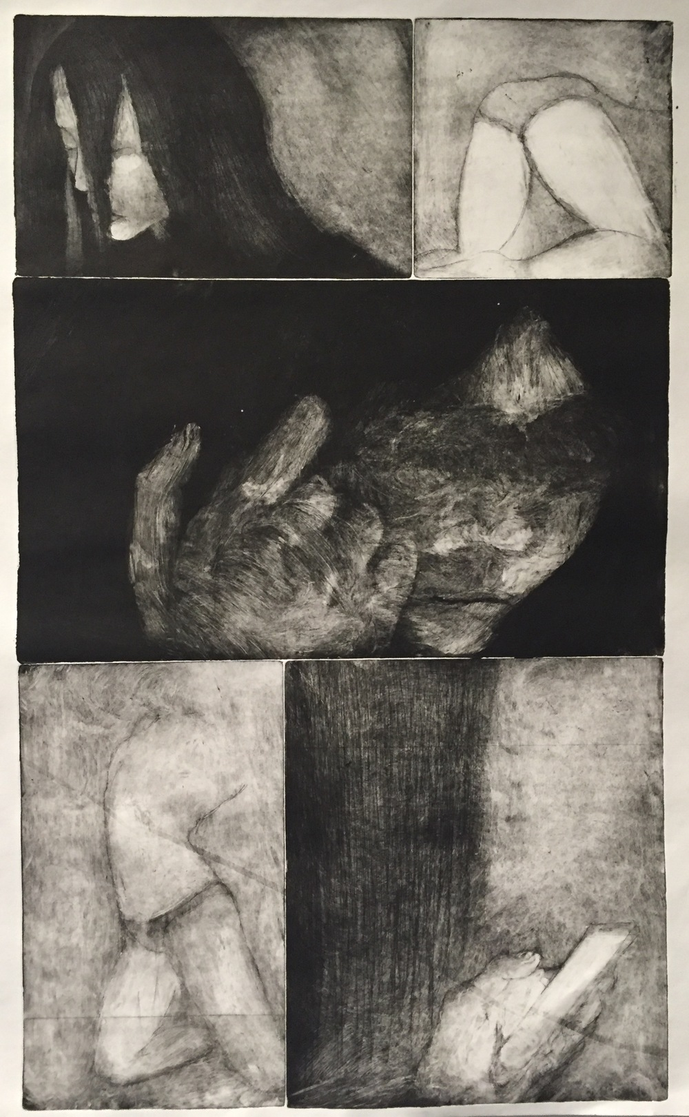 GERALD WARHAFTIG   Emotional Dependency   etching