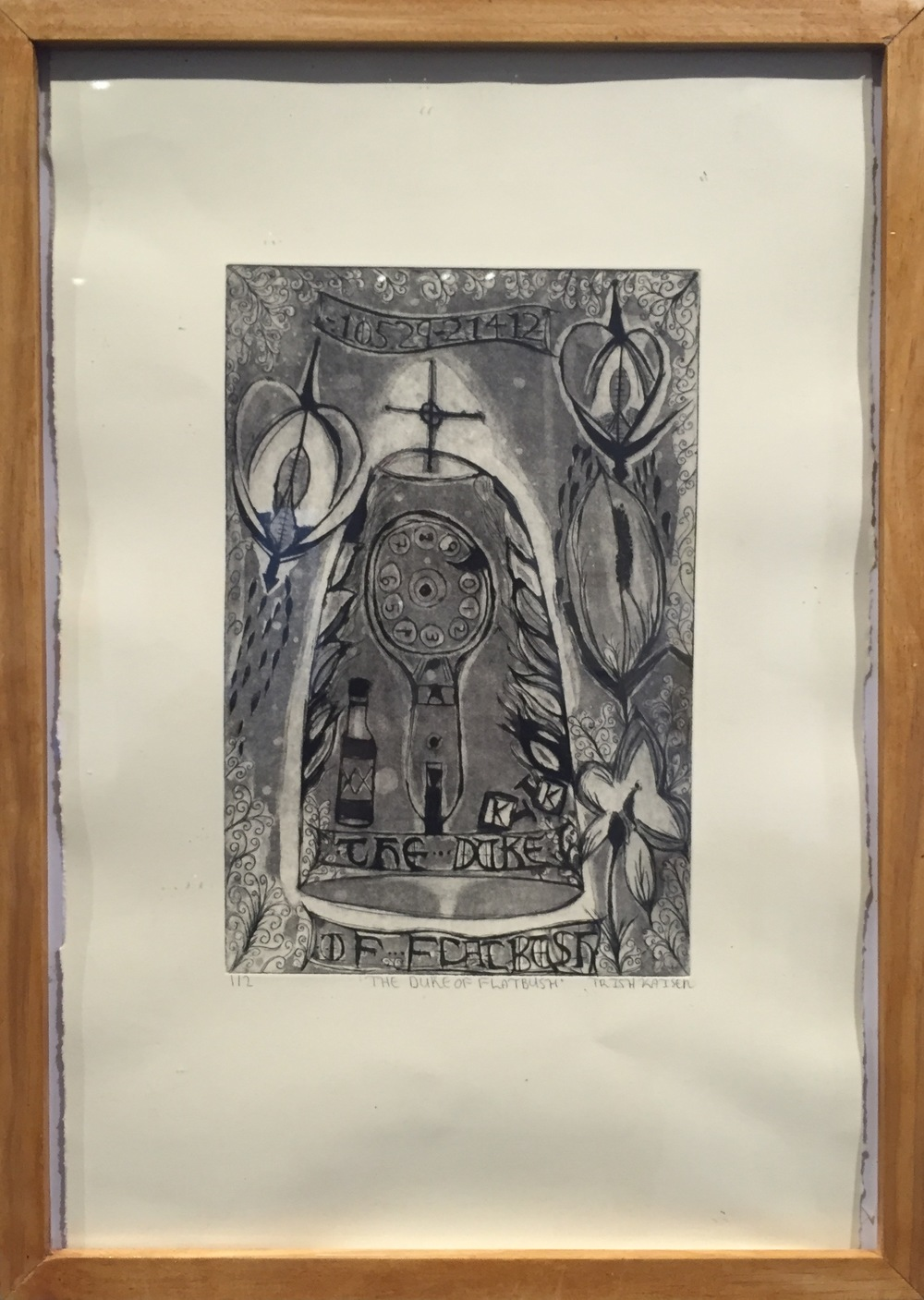 TRISH KAISER The Duke of Flatbush etching, aquatint