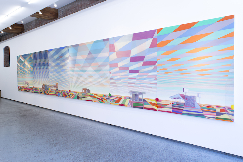 "Installation view of ""Greg Drasler: Road Trip,"" 2016, at Betty Cuningham Gallery, New York. Courtesy of the artist and Betty Cuningham Gallery."