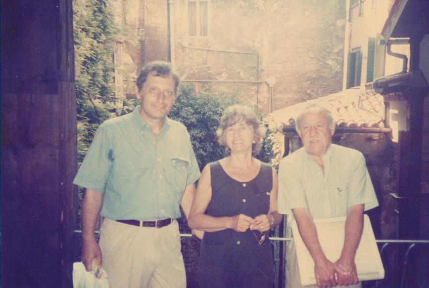 Left to right: Professors Dimitri Hazzikostas, Clare Romano, Richards Ruben.