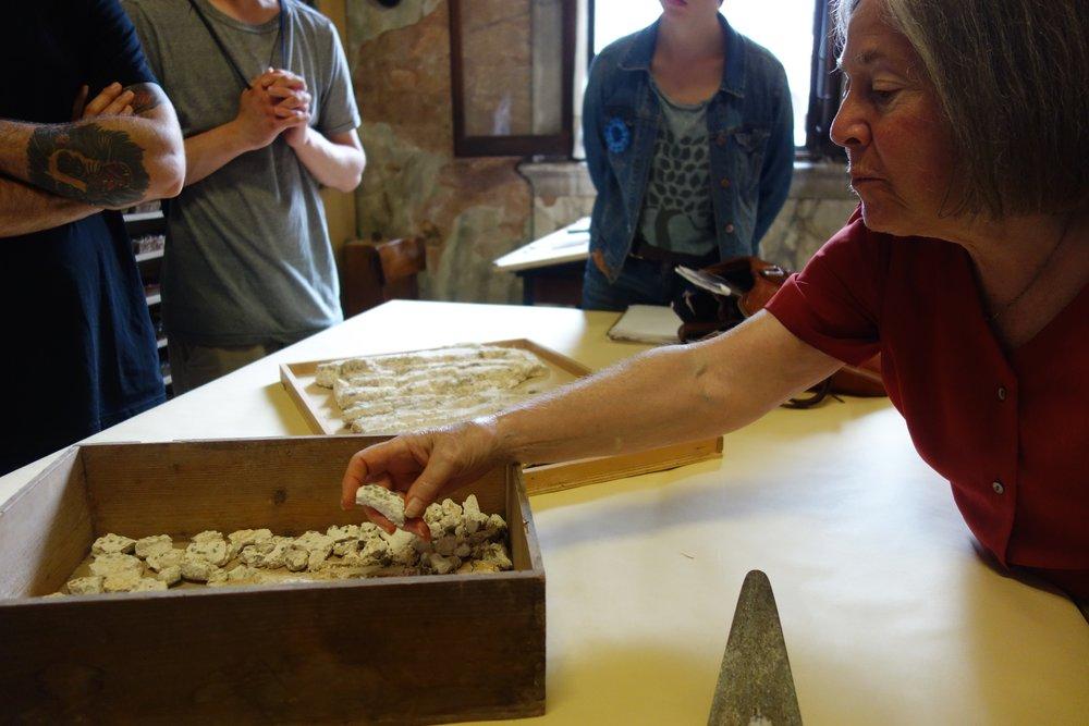 Diana Gisolfi at San Marco mosaic laboratory