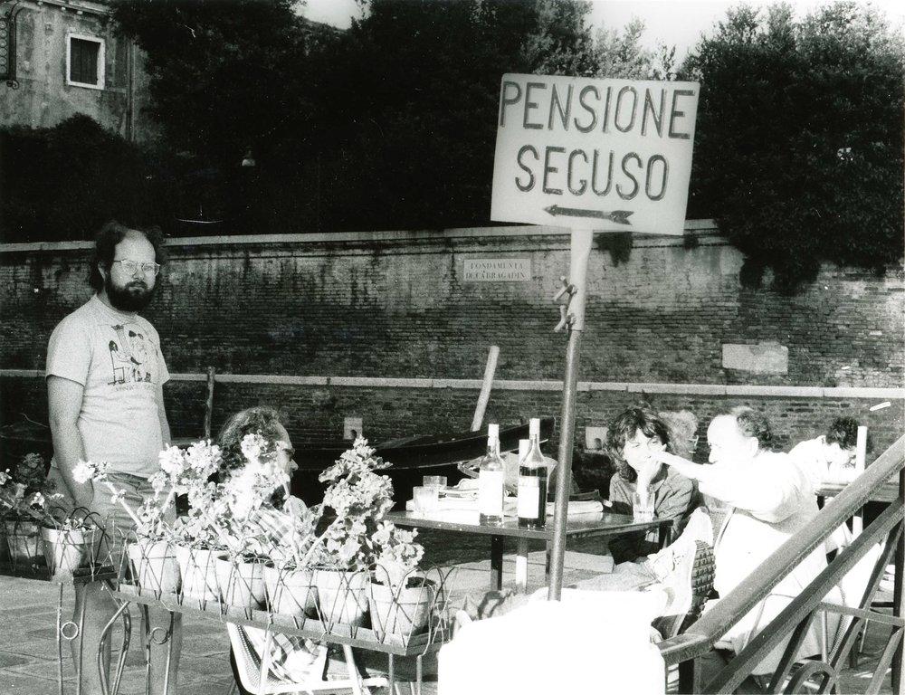 Eric Lurio at the Pensione Seguso