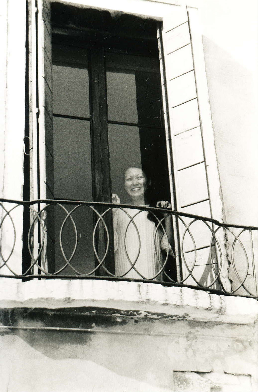 Graduate Student Adele Rossetti at Calcina window