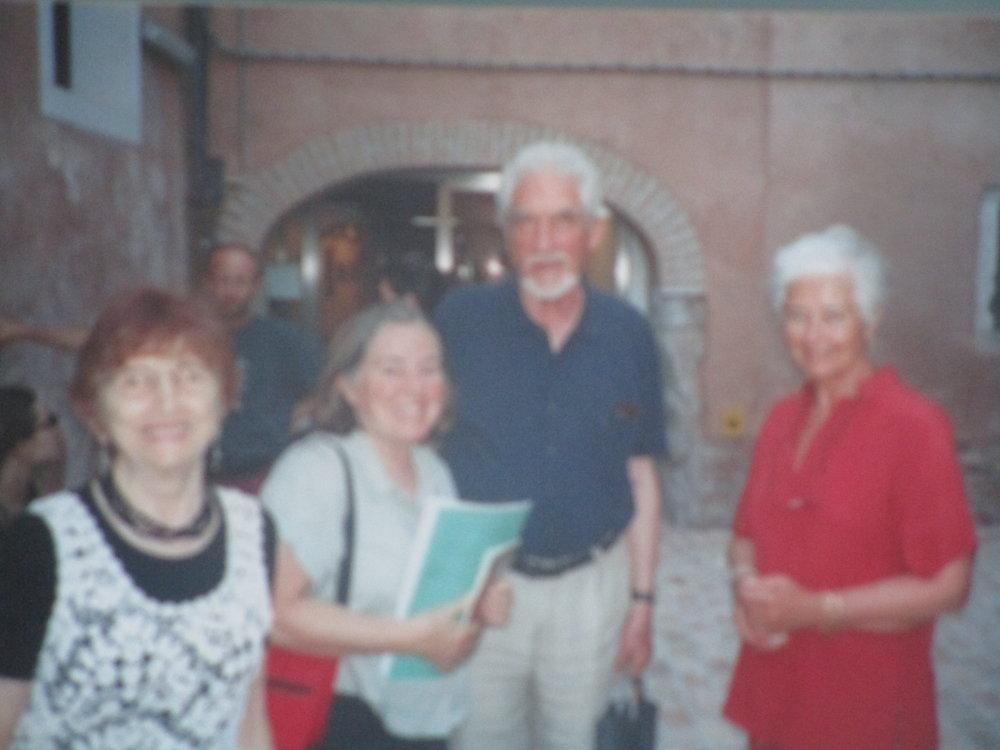 Clare, Diana, Nedo at Scuola Grafica