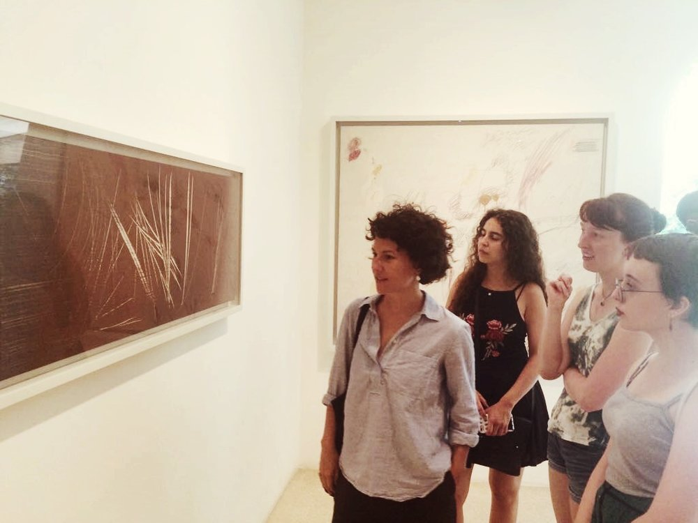 Jessica, Chantal, Thea, and Olivia at the Peggy Guggenheim Collection in Venice