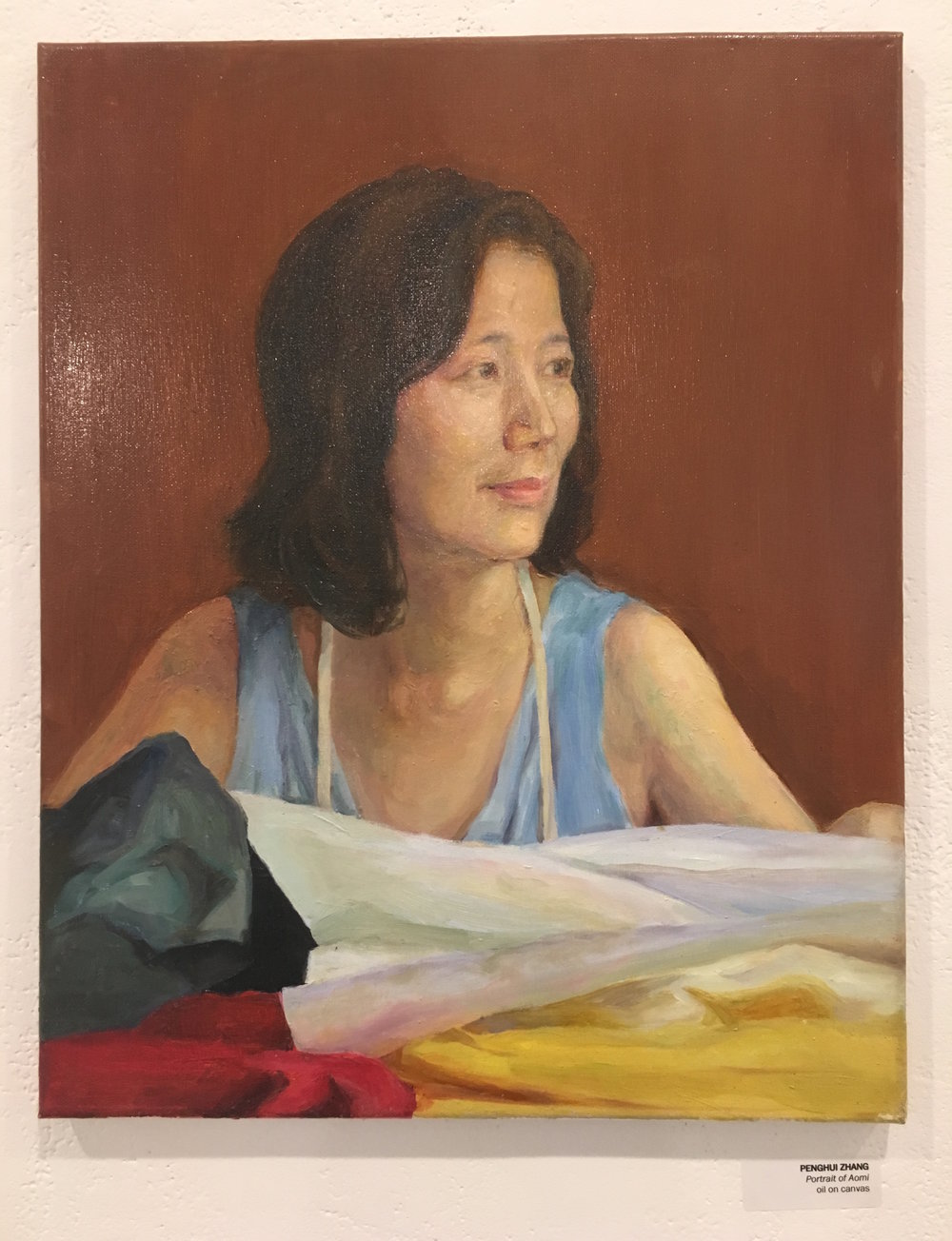 "Penghui Zhang, ""Portrait of Aomi"" (oil on canvas)"